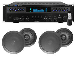 Rx113 1500w Home Theater Amplifier Receiver+4 8 Black Ceiling Speakers