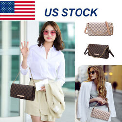 Women Leather Crossbody Purse Cell Phone Checkered Handbag Clutch Shoulder Bag $19.90