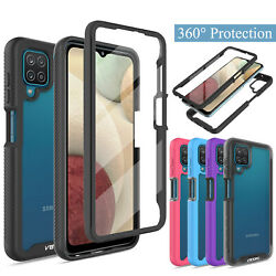 For Samsung Galaxy A12 Full Body Clear Case With Built in Screen Protector Cover