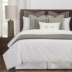 Siscovers Everlast Stain Resistant 6 Piece White Duvet Cover