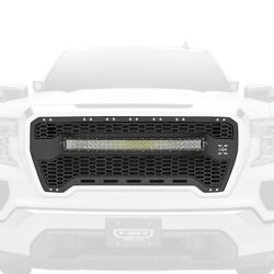 For Gmc Sierra 1500 19-20 Main Grille 1-pc Laser Torch Series Black Honeycomb