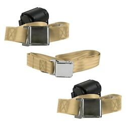 For Jeep Comanche 86-92 2-point Airplane Buckle Retractable Bench Seat Belts