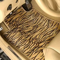 For Chevy Chevelle 66-67 Safari Auto Mat Carpeted 1st And 2nd Row Tiger Floor Mats