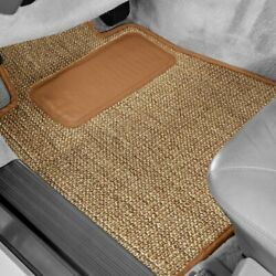 For Ford 1/2 Ton Pickup 35-39 Sisal Auto Mat Carpeted 1st Row Oak Floor Mats