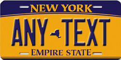New York Personalized Custom Aluminum License Plate Map Tag Any Text Your Name