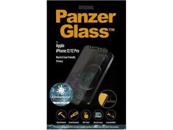 Panzerglass Antibacterial Black Privacy Glass For Iphone 12 And 12 Pro