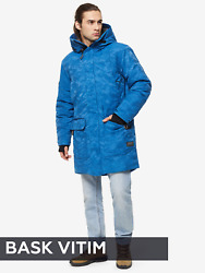 Camouflage Blue Down Jacket For Men Bask- Waterproof Fabric- For -25 Anddeg C/ -13anddeg F