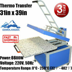 Us 31in X 39in Clamshell Heat Press Machine Textile Thermo Transfer 220v 5500w