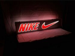 Vintage Just Do It Nike Sign Store Display Double Sided Nike Advertising Sign