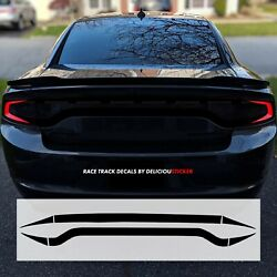 For 2015-21 Charger Race Track Black Tail Light Decal Precut Overlay Rear Vinyl