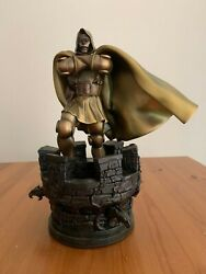 Dr Doom Marvel Faux Bronze Sideshow Statue By Bowen 177/300 With Box