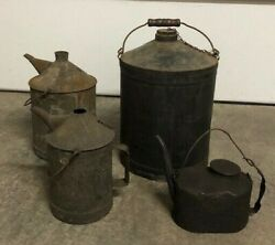 Vintage Chicago And Northwestern Railway Oil Cans