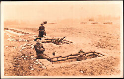 Wwi 9 Trench Warfare Train Rppc's Fort Riley 1917 Us Army In Camp Funston Kansas