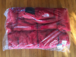 Red Supreme The Faux Fur Nuptse Jacket Size Xl In Hand Same Day Ship