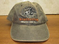 Winchester Repeating Arms Distressed Dark Brown Mens One Size Baseball Hat Adult
