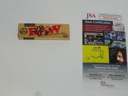 George Jung Signed Raw Tobacco Rolling Paper Boston George Autographed Jsa Coa
