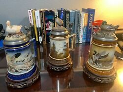 The American Wildlife Stein Series/pat Ford/w. Germany On Exotic Wood Base