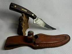 Schrade Old Timer 152 Sharpfinger 1973-2004 Fixed Blade Knife With Sheath