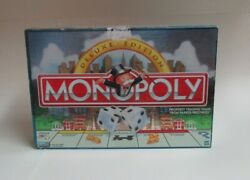 Monopoly Deluxe Edition 1998 Gold Tokens Wood Houses And Hotels - Complete Nice