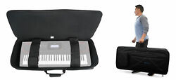 Rockville 61 Key Padded Rigid Durable Keyboard Gig Bag Case For Casio Ct-x3000