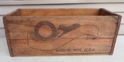Vintage Fox River Beer Brewery Wood Crate Box Bottle Sign Berlin Wi Graphic