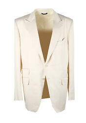 New Tom Ford O'connor Off White Sport Coat Size 56 / 46r U.s. Fit Y Silk Blen...