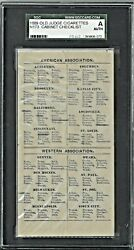 Sgc Authentic N173 Old Judge Baseball Cabinet Card Checklist Rare Low Pop 1/1