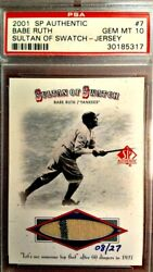 Psa 10 Babe Ruth 2001 Sp Sultan Of Swatch Jersey Pants Pinstripe Baseball Card