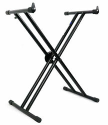 Rockville Double X Braced Keyboard Stand W/push Button Lock For Casio Ct-x3000