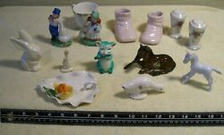 Vintage Lot Of 14 Various Knick Knacks From 1950's
