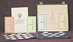 1980 Moscow Olympics Set Of 28 .900 Fine Silver Coins With Case