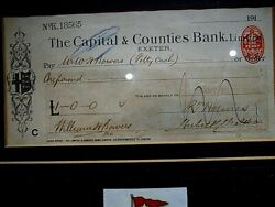 Rms Titanic Relief Fund Cheque Olympic And White Star Line Victims And Survivors