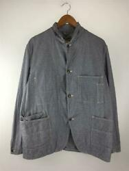 Sugar Cane Work Coat Houndstooth Cotton Size 40 Used From Japan