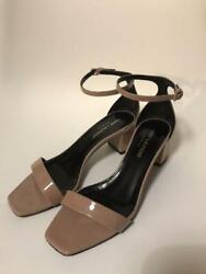 Auth Yves Saint Laurent Ankle Strap Sandals Beige Size Eur 35.5 Used W/box Japan