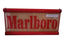 Marlboro Double Sided Hanging Lighted Bar Advertising Game Room Sign 49 X 24