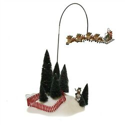 Department 56 Santa's On His Way 2000 Animated Reindeer And Sleigh 52502