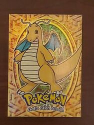 Pokemon The First Movie Topps Trading Cards 149 Dragonite E12 Rainbow Foil Nm