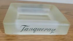 Vintage Tanqueray 4.5 Frosted Glass Single Bottle Pedestal Bar Euc