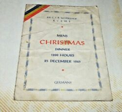 1945 Royal Canadian Electrical Mechanical .engineers-christmas Dinner,germany