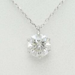 Jewelry Platinum 900 850 Necklace Diamond 0.528 About1.1g Free Shipping Used