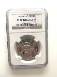 2011-w 100 Proof Platinum Eagle Commemorative Coin Ngc Pf70 Ultra Cameo