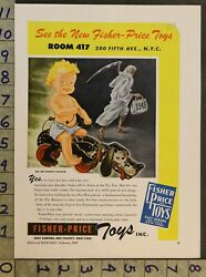 1947 Fisher Price Snoopy Sniffer Dog Erie County Cadet Bugler 2-pg Toy Ad Ts34