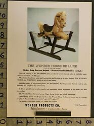 1953spring Riding Horse Wonder Deluxe Hobby Palomino Collierville 2pg Toy Adts51