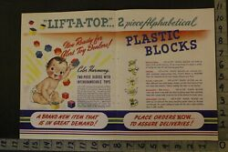1946 Preschool Plastic Block Lift-a-top Airtonic Dayton Build 2-pg Toy Ad Tu05