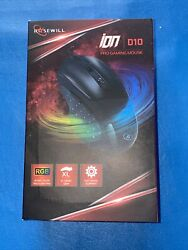 Rosewill Ion D10 4000 Dpi Led Lighting Wired Usb Gaming Mouse - Brand New