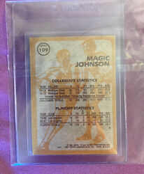 1981 Topps Magic Johnson 109 Super Action West Lakers