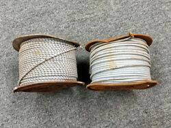 2 Spools Of Western Electric Ks13385 L-1 12 Ga Cloth Covered Stranded Wire