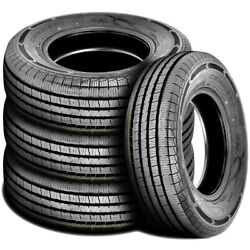 4 New Americus Commercial L/t 225/75r16 115/112q E 10 Ply Commercial Tires