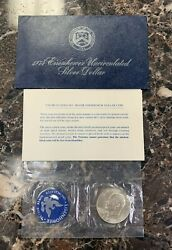 1974 S Eisenhower Uncirculated Silver Dollar 40 Silver Ogp And Coa