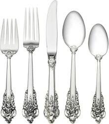 Wallace Grande Baroque Sterling 5 Piece Place Setting G3822
